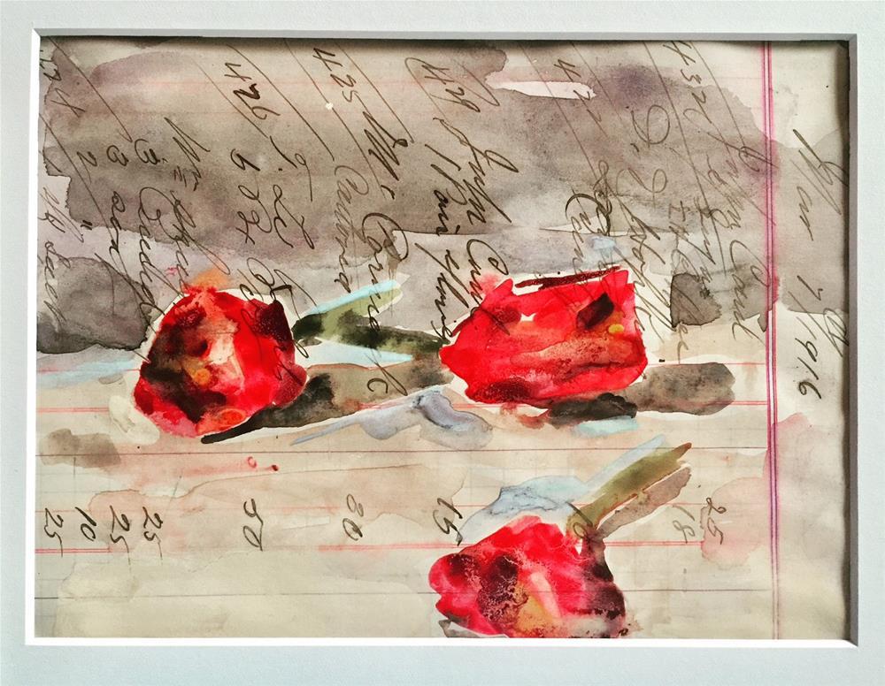 """494 Three Little Tulips"" original fine art by Jenny Doh"
