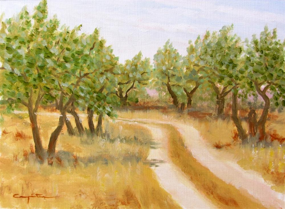 """Calor en el olivar"" original fine art by Eduardo Carpintero"