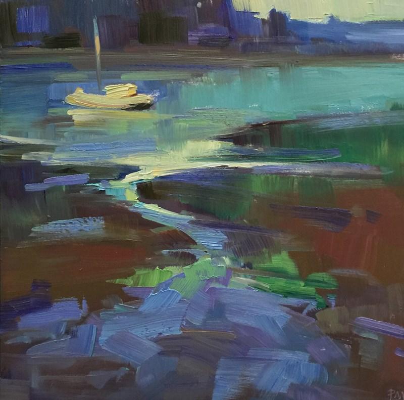 """Yaquina Bay Rhapsody"" original fine art by Patti McNutt"