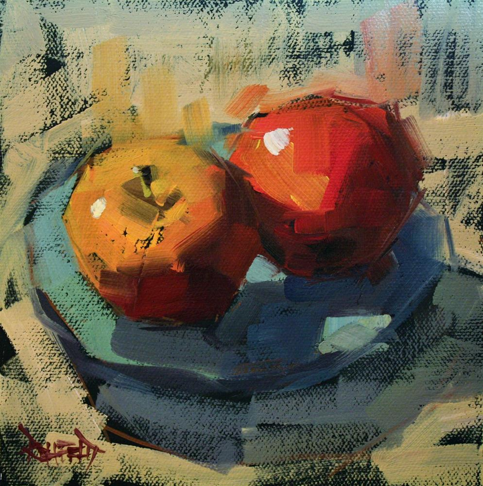 """Two Apples"" original fine art by Cathleen Rehfeld"