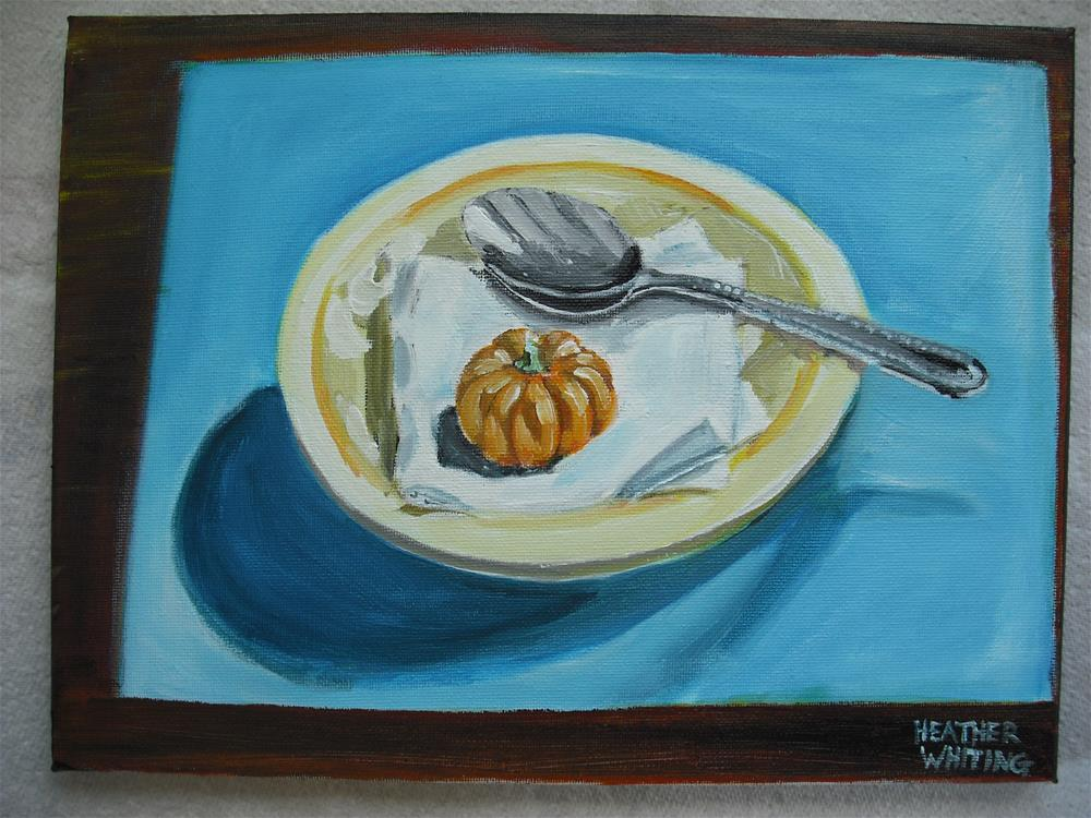 """A Spoonful of Pumpkin"" original fine art by Heather Whiting"