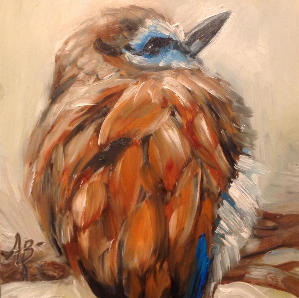 """Racket-tail Roller"" original fine art by Annette Balesteri"