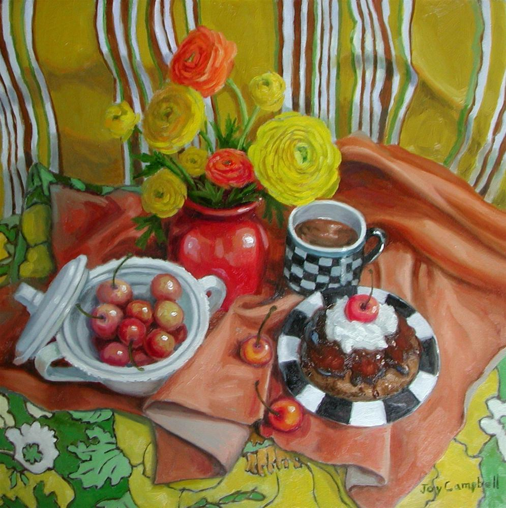 """""""Afternoon Snack"""" original fine art by Joy Campbell"""
