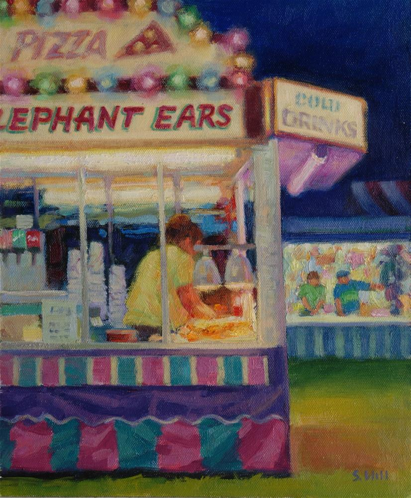 """Elephant Ears 12x10"" original fine art by Sharon Will"