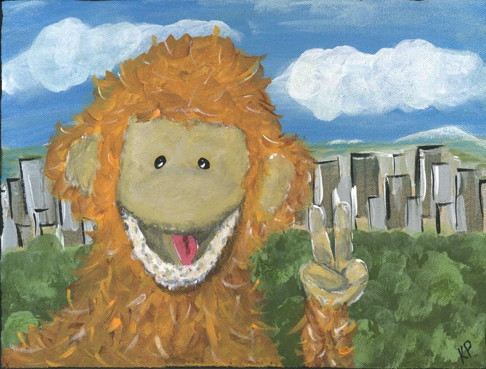 """Mr. Monkey"" original fine art by Kali Parsons"