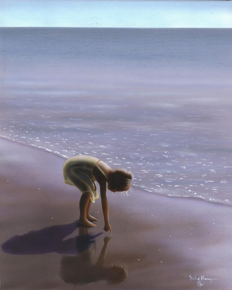 """The Beach Explorer"" original fine art by Fred Schollmeyer"