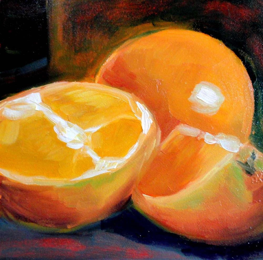 """Oranges"" original fine art by Cietha Wilson"