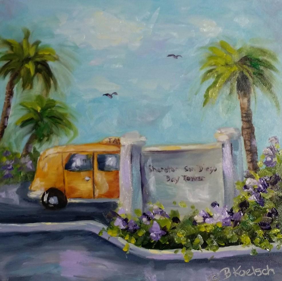 """""""Vacation Time"""" original fine art by Bobbie Koelsch"""
