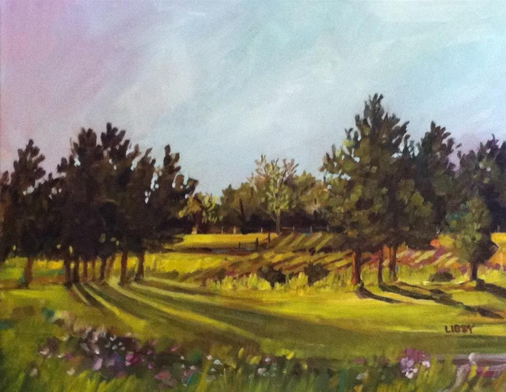 """Late Summer Afternoon"" original fine art by Libby Anderson"