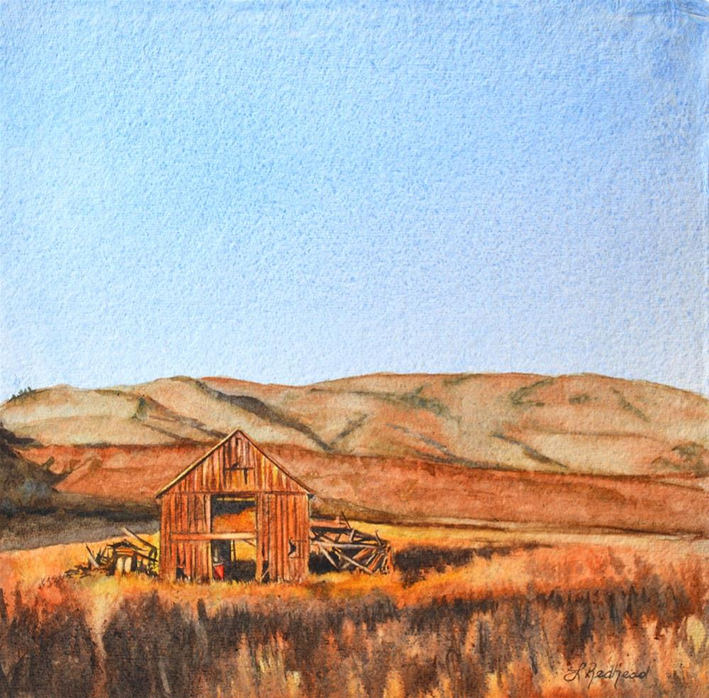 """The Old Barn"" original fine art by Leslie Redhead"