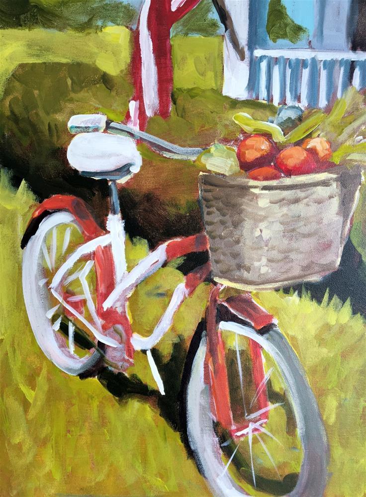 """""""My Beloved Bicycle"""" original fine art by Susan Elizabeth Jones"""