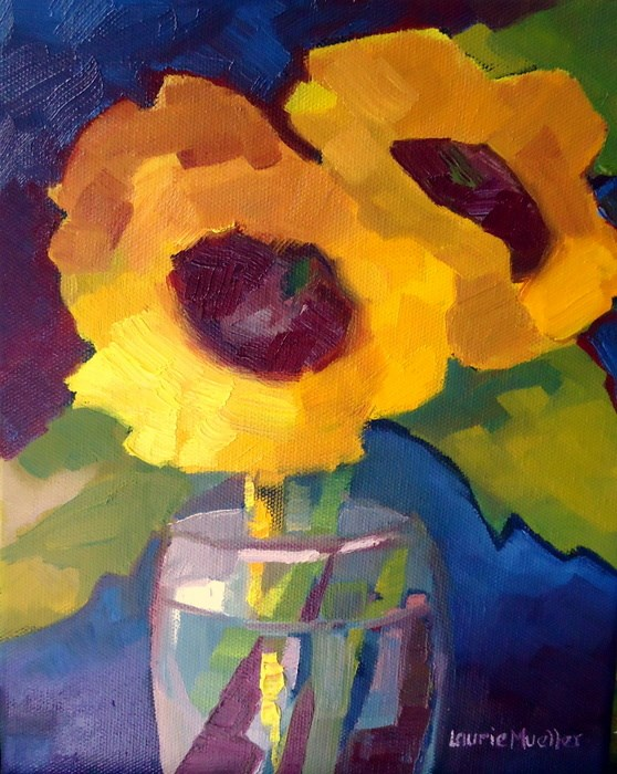 """Chunk O' Sun"" original fine art by Laurie Mueller"