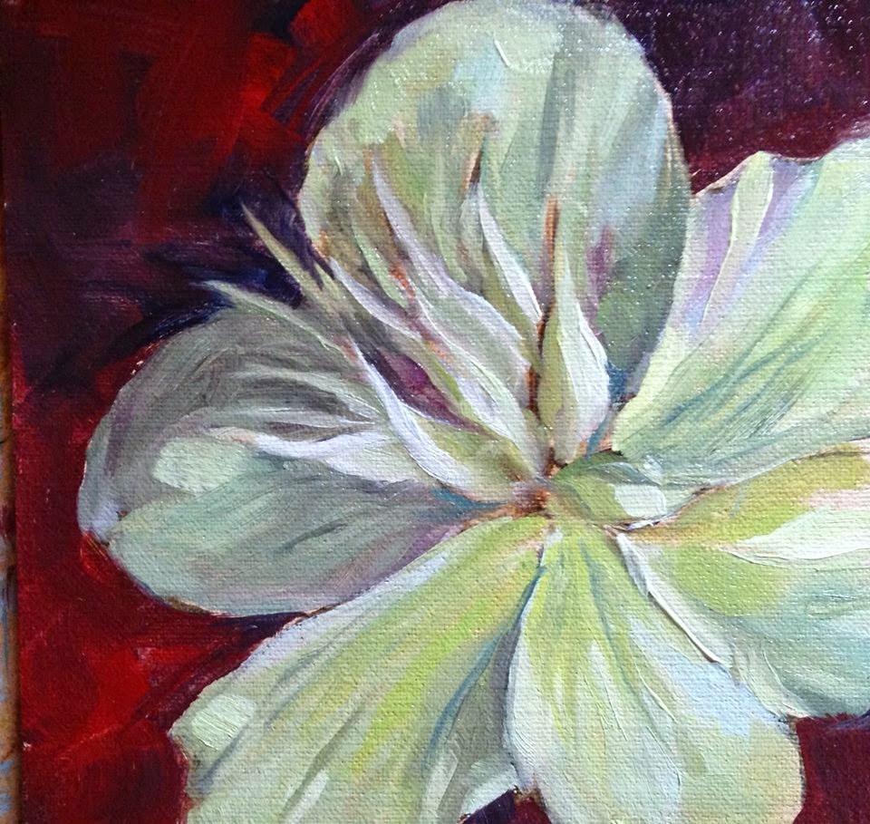 """""""Lenten Rose (Hellebore)"""" original fine art by Lynne Schulte"""