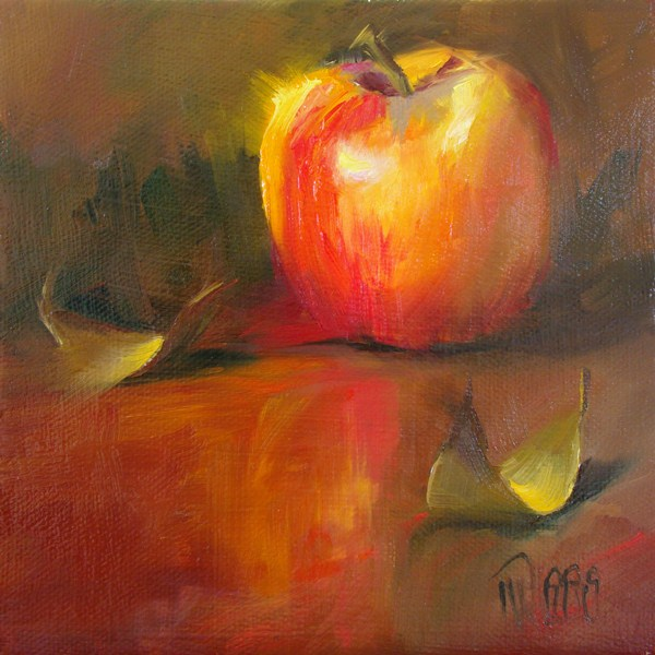 """Apple 1"" original fine art by Lori Twiggs"