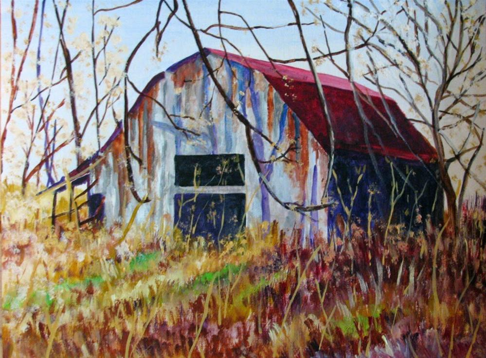 """Multi-Color Barn"" original fine art by Nan Johnson"