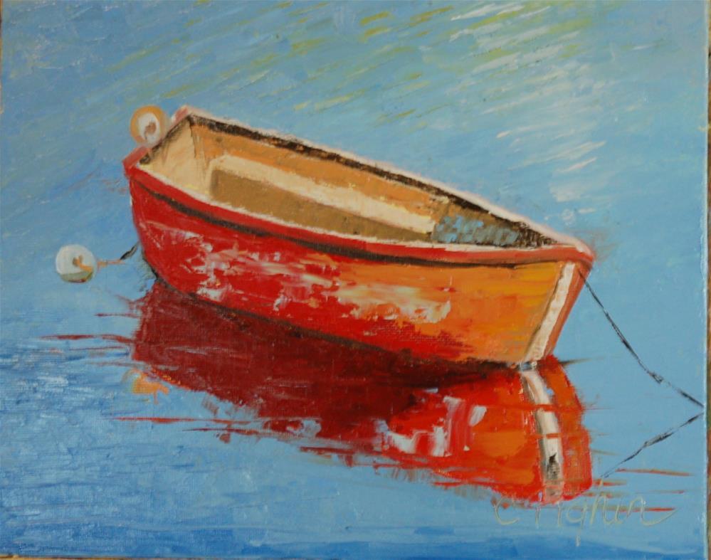 """""""Pretty in Red"""" original fine art by Carol Pighin"""