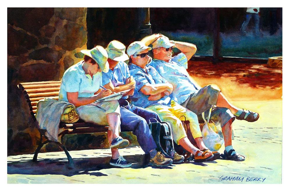 """""""Four across."""" original fine art by Graham Berry"""
