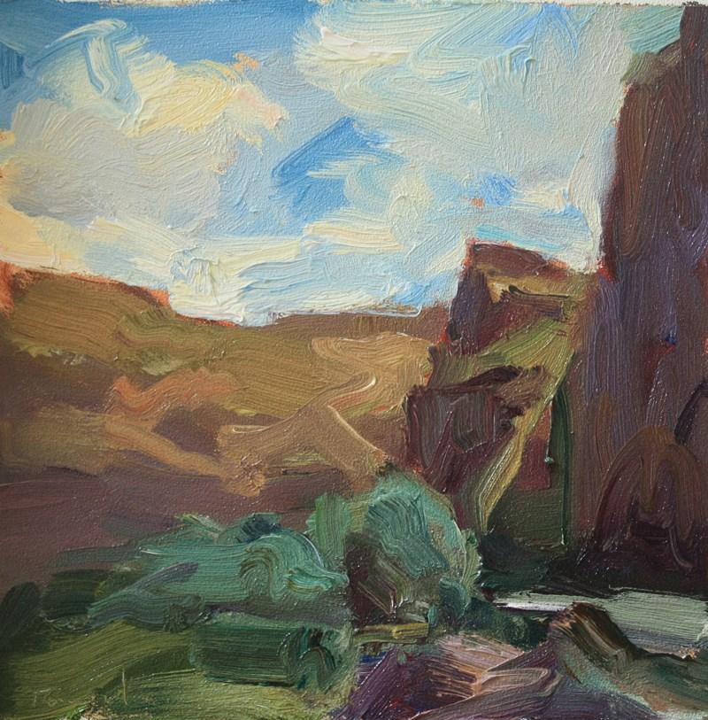 """Palouse Walls"" original fine art by Kathryn Townsend"
