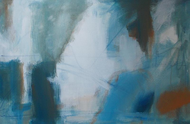 """Blue Tendencies"" original fine art by Pamela Munger"