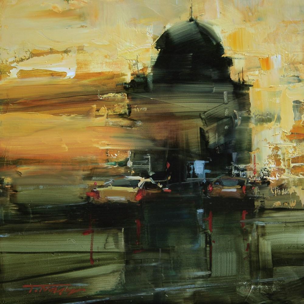 """The Guard"" original fine art by Tibor Nagy"