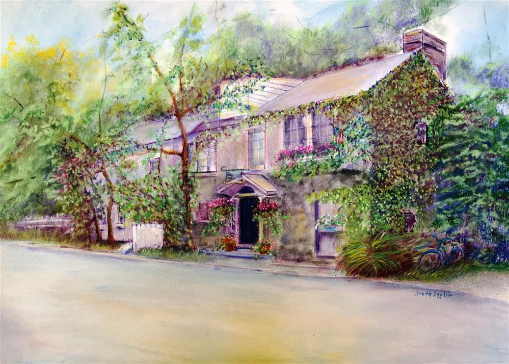"""Inn at Phillips Mill"" original fine art by Loretta Luglio"