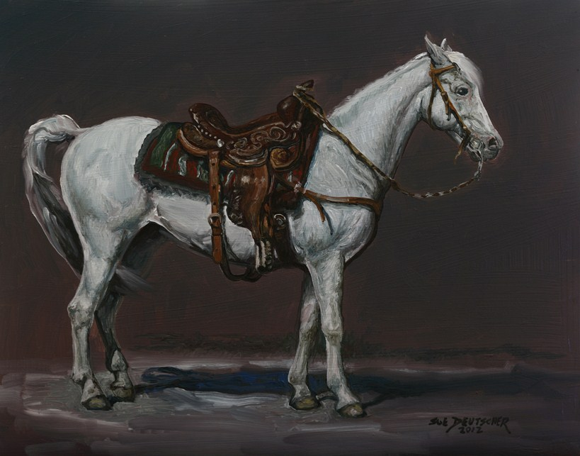 """Horse with Saddle"" original fine art by Sue Deutscher"
