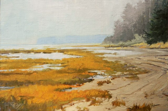 """Leadbetter Wildlife Refuge Cape Disapointment, landscape painting by Robin Weiss"" original fine art by Robin Weiss"
