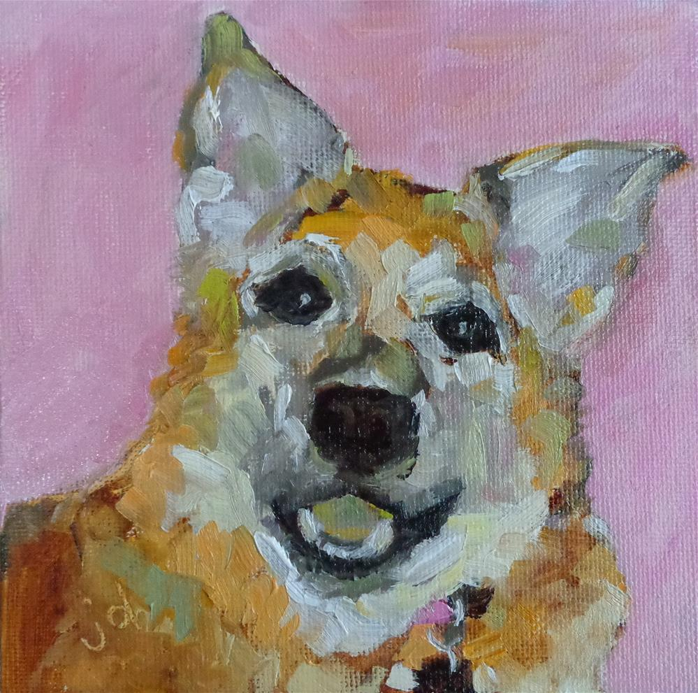"""Smiling"" original fine art by Jean Delaney"