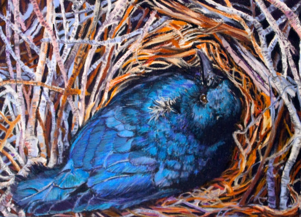 """A Bird's Eye View"" original fine art by Jill Bates"
