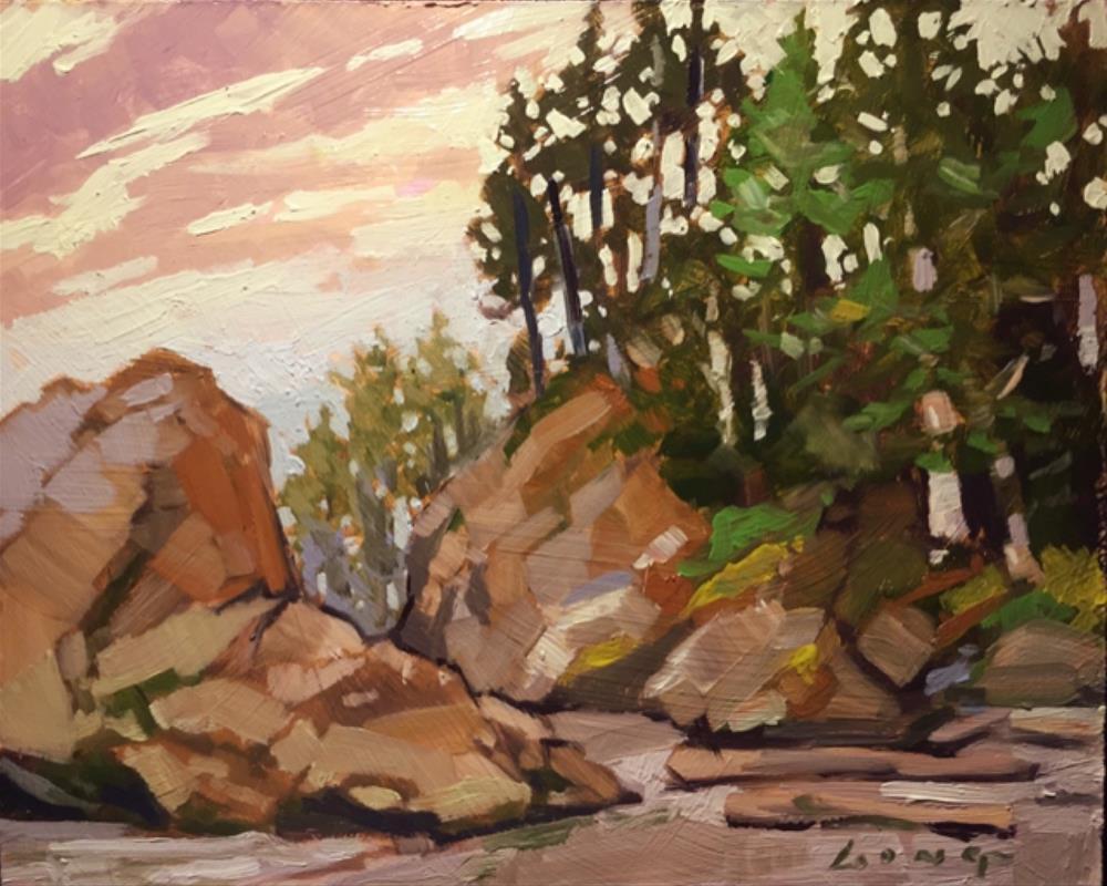 """Pacific Evening"" original fine art by Chris Long"