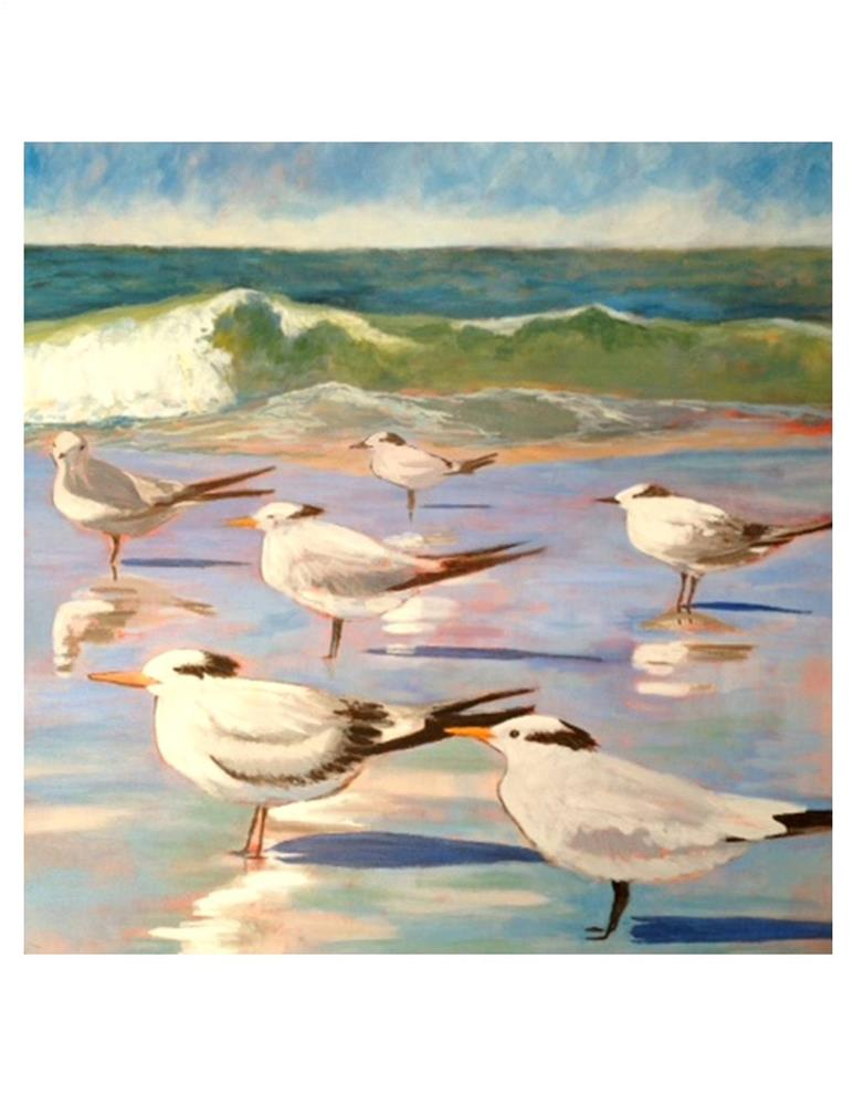 """Feathered Friends"" original fine art by Suzanne Woodward"