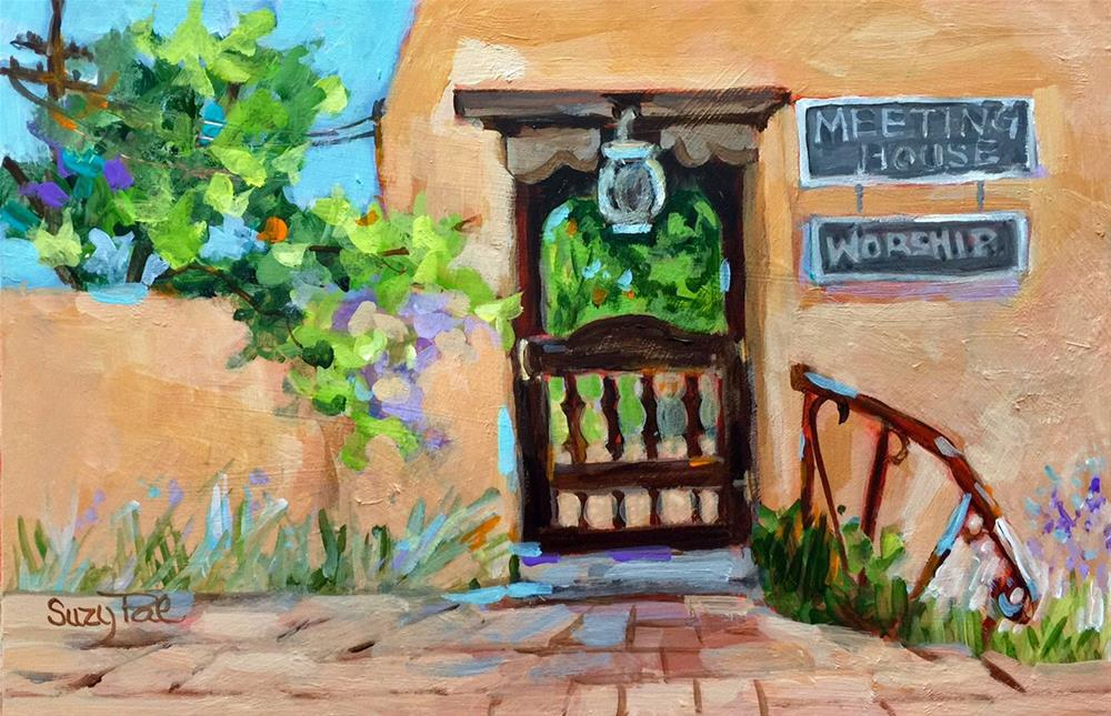 """Santa Fe #19"" original fine art by Suzy 'Pal' Powell"