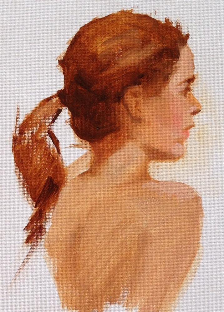 """""""Alyssia"""" original fine art by Dorothy Woolbright"""