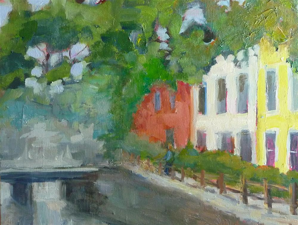 """Along Georgetown Canal"" original fine art by Carol Josefiak"