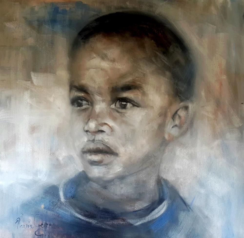 """Just a boy"" original fine art by Rentia Coetzee"