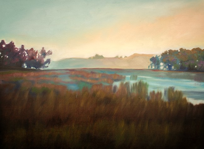 """Morning Pond"" original fine art by Lauren Pretorius"