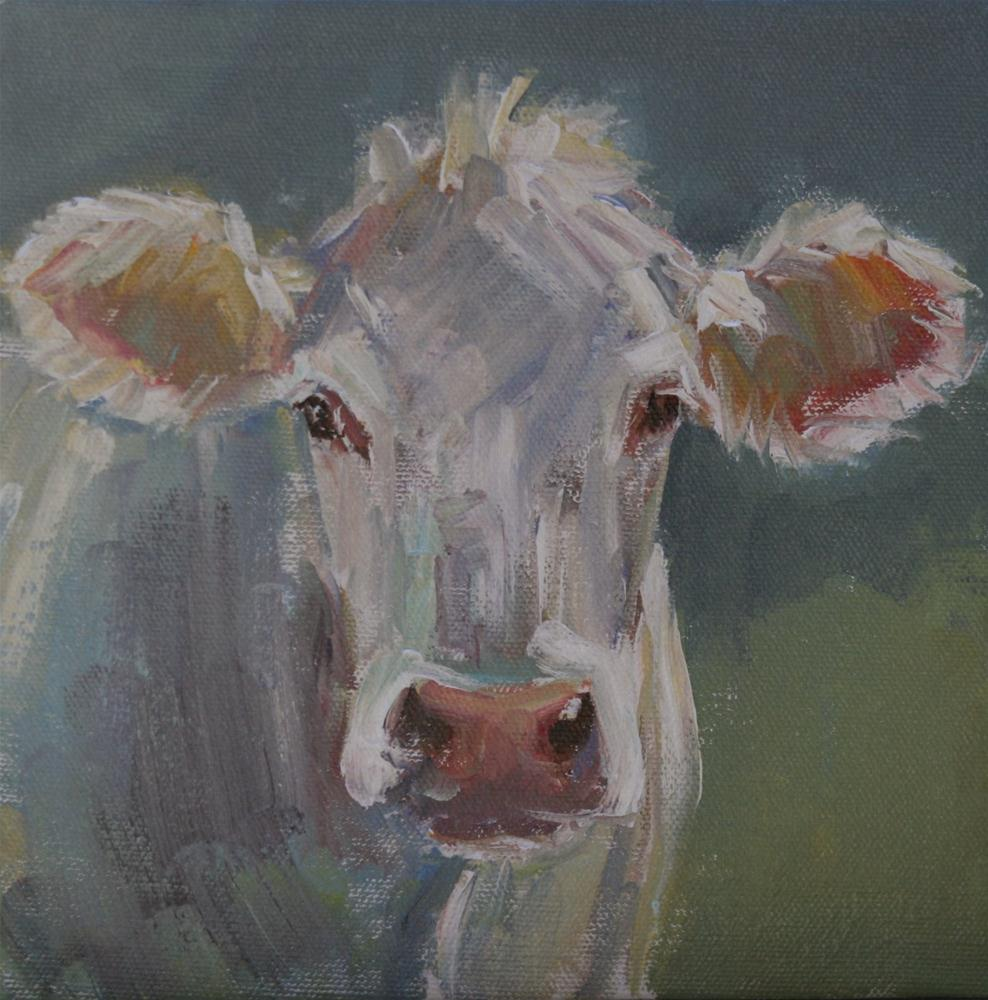 """mad cow"" original fine art by Carol Carmichael"