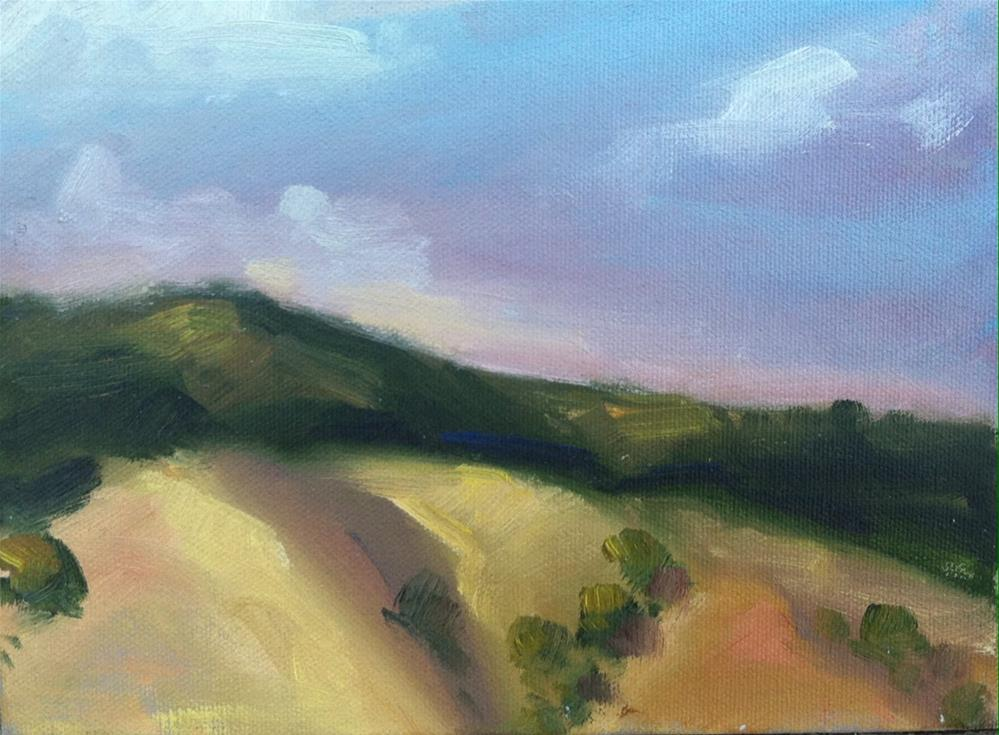 """Clear Lake Hilltops, Late Afternoon"" original fine art by Mary Mulvihill"