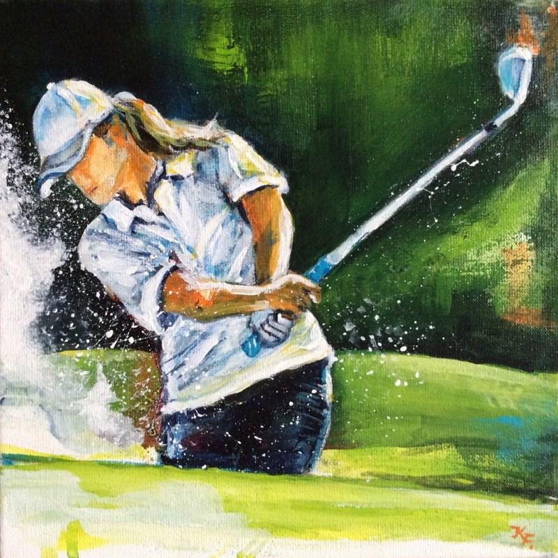 """Golfer"" original fine art by Klaudia Frieda"