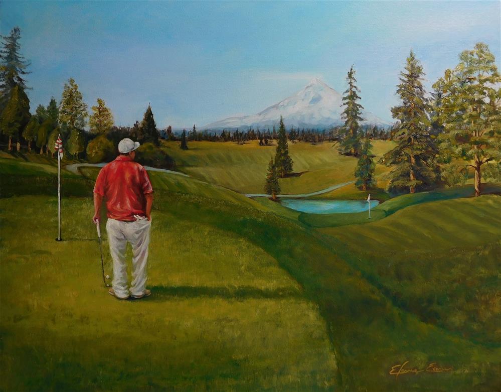"""Golfing"" original fine art by Elaine Evans"