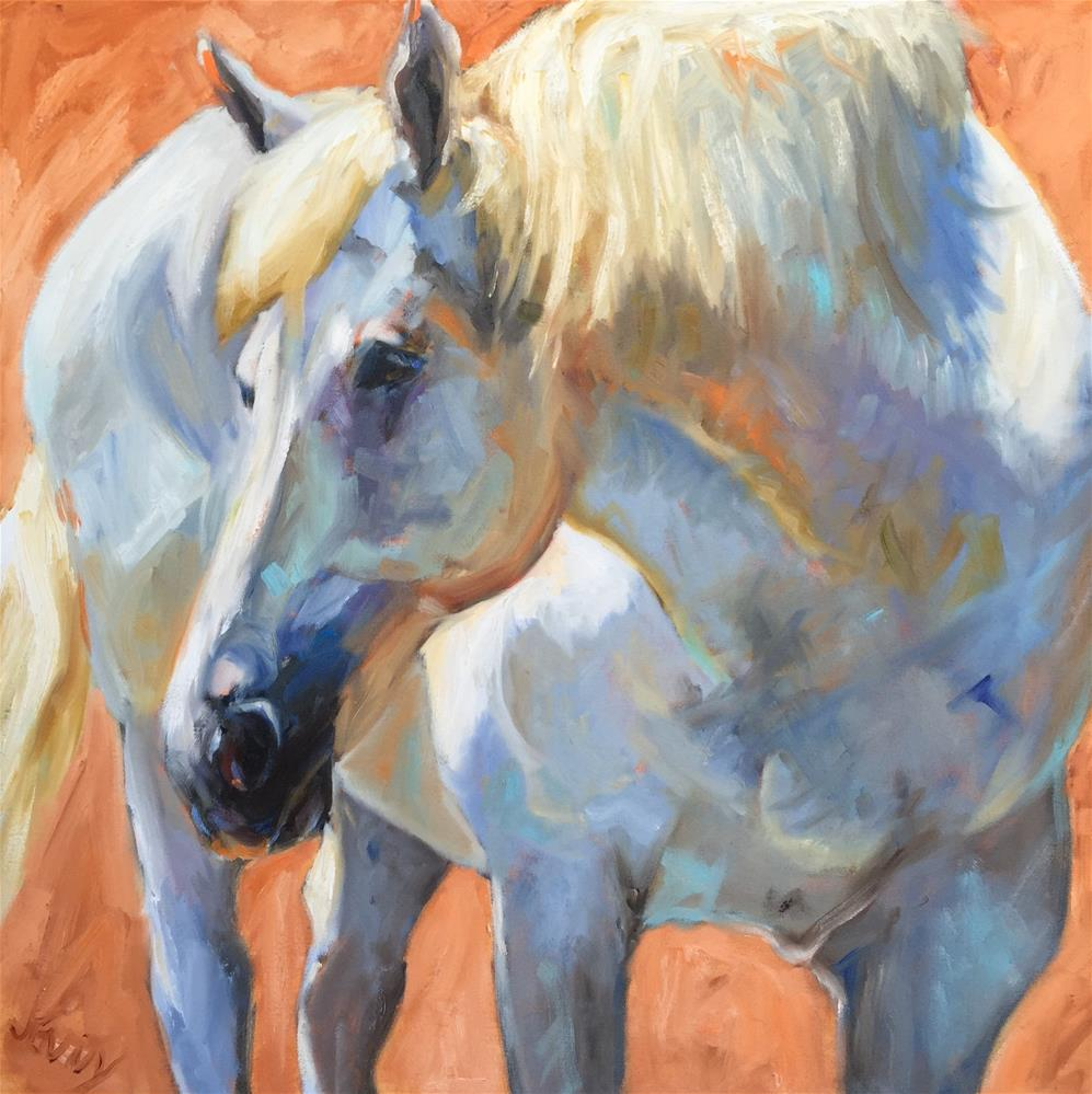 """My Blue Boy"" original fine art by Jenny Buckner"