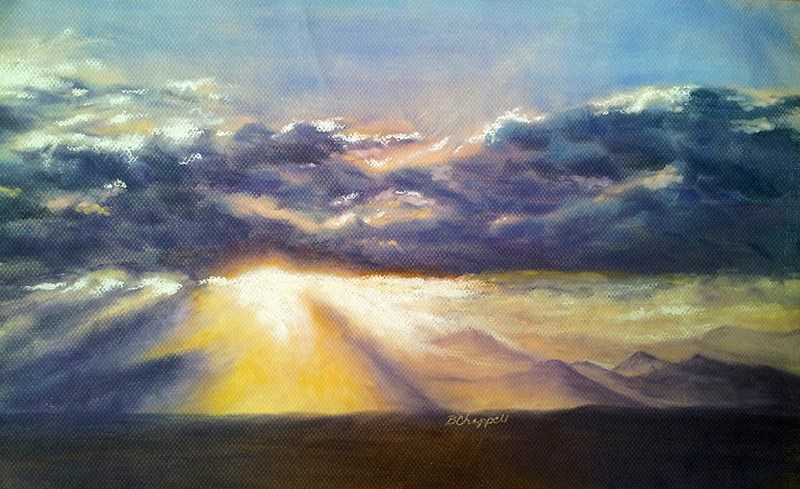 """Broomfield Sky"" original fine art by Becky Chappell"