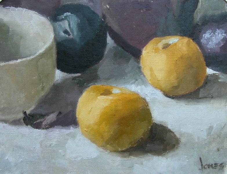 """Pluots and Black Plums"" original fine art by Richard Jones"