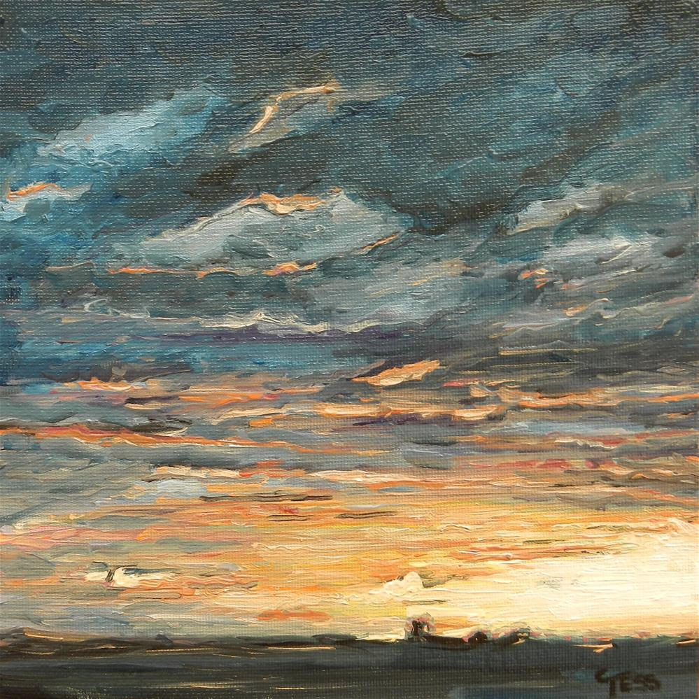 """Montana Sunrise.....The Big Sky"" original fine art by Tess Lehman"