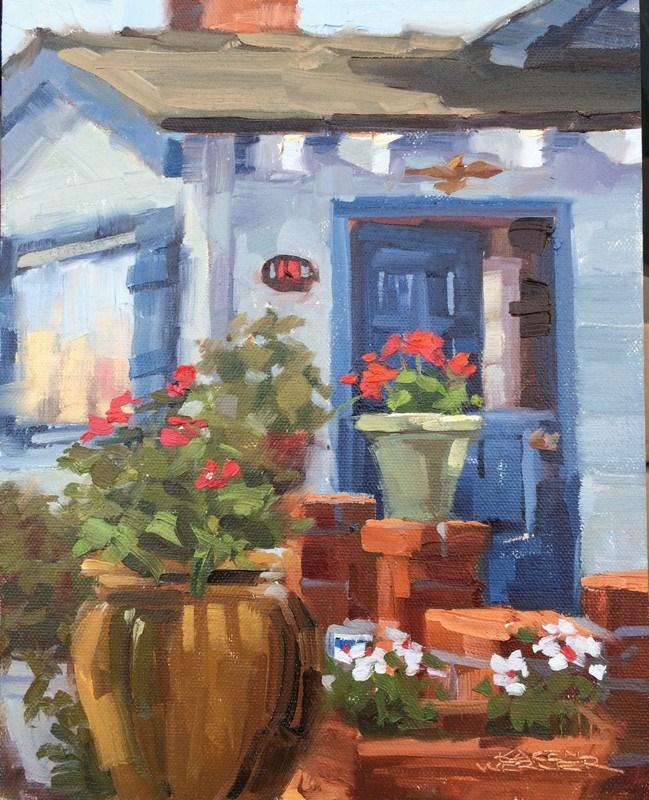 """Pots, Pots, Pots"" original fine art by Karen Werner"