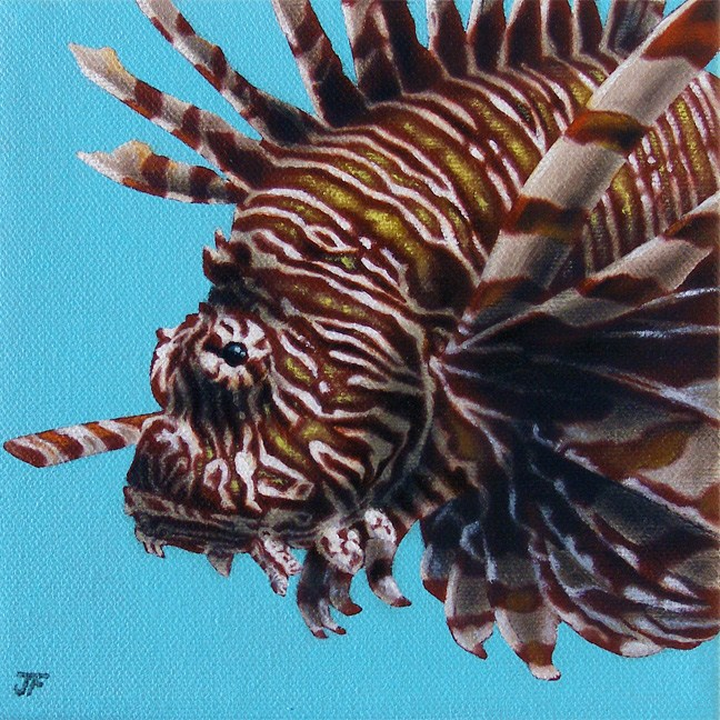 """John the Lionfish"" original fine art by Jelaine Faunce"