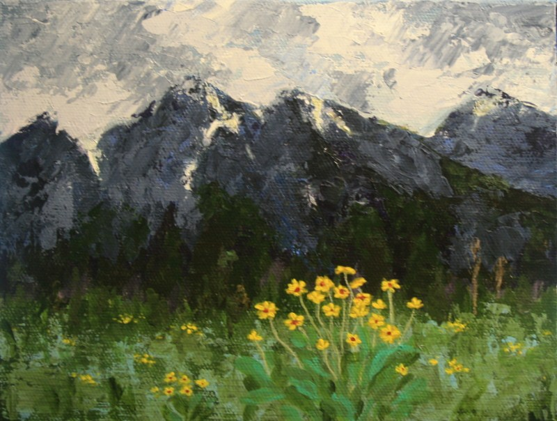 """Storm Over the Tetons"" original fine art by Jean Nelson"