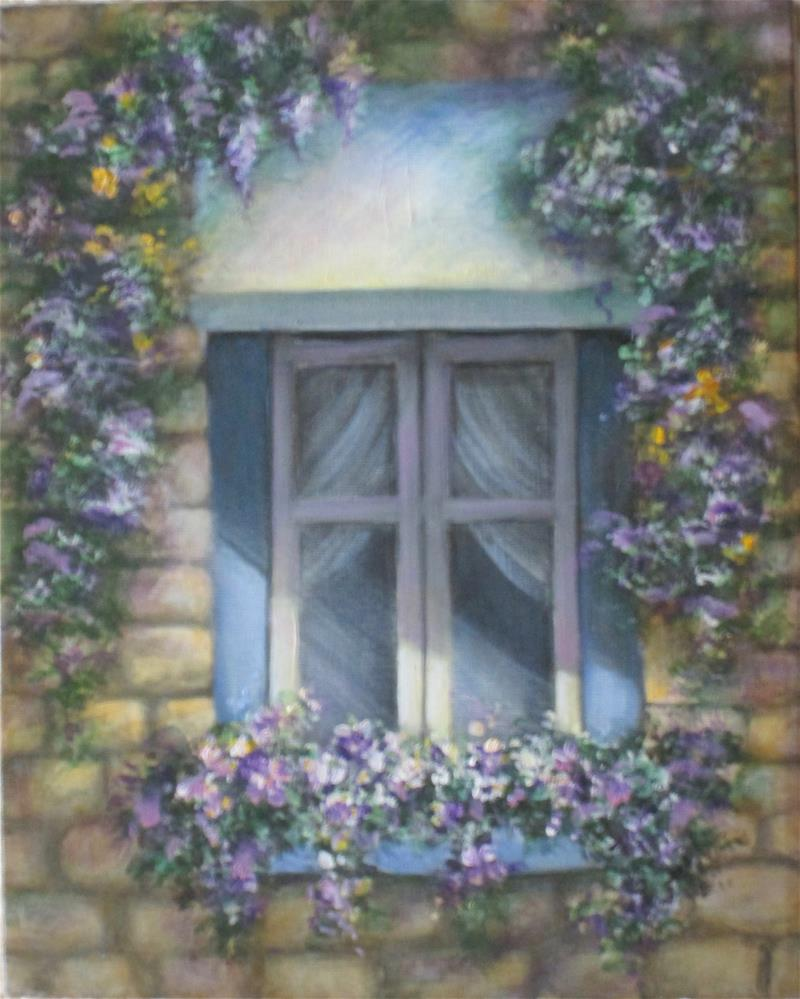 """Quebec Window"" original fine art by Barbara Wagner"