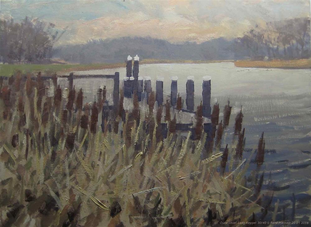 """Oude IJssel. Laag-Keppel, The Netherlands."" original fine art by René PleinAir"