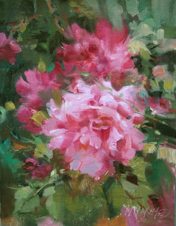 """Rouge - Last Chance , Hurricane Sandy Fund Raiser"" original fine art by Mary Maxam"
